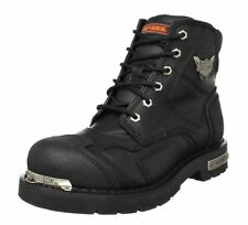 """Harley-Davidson Mens 5.75"""" Stealth Riding Black Leather Motorcycle  Boots D91642"""