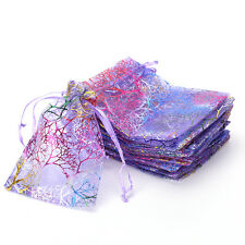 25pcs 12x9cm Coralline Organza Jewelry Pouch Wedding Party Favor Gift Bag ed
