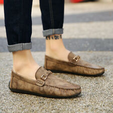 Mens Leisure Leather Oxfords Loafer  Comfy Casual Moccasins Driving Shoes CAE4