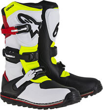 ALPINESTARS Trials Offroad 2017 TECH-T Boots (White/Red/Yllw/Black) Choose Size