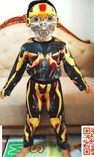 NEW Size 2-12 KIDS COSTUMES BOYS TRANSFORMERS BUMBLEBEE MASK SUPERHEROES TOYS B