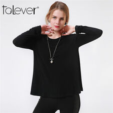 New Fashion Women's Long Sleeve Round Collar T-Shirt Casual Loose Blouse Tops