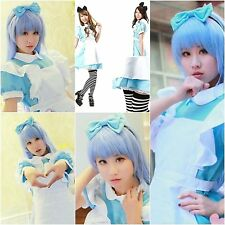 Alice in Wonderland Dress Maid Lolita Sexy Outfit Blue Costume For Cosplay Party