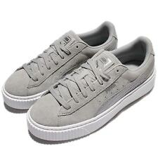 Puma Suede Platform Safari Wns Quarry Grey White Women Casual Shoes 364594-02