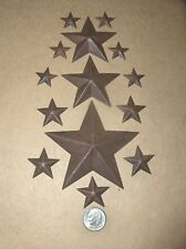 14 TINY RUSTIC RUSTY TIN  BARN STARS 2-D ASSORTED