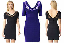 BNWT French Connection FCUK NEW £135 Bodycon Ribbon Knit Club Party Pencil Dress