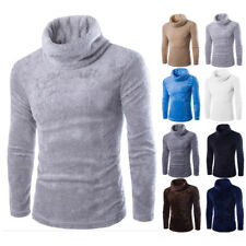 Men's Thermal High Collar Turtle Neck Skivvy Long Sleeve Sweater Stretch Shirts