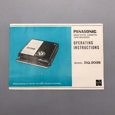 Vintage Panasonic RQ-203S Portable Cassette Tape Recorder Manual jds
