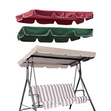 """Patio Outdoor Garden Swing Canopy Replacement Porch Top Cover Seat 75""""x52"""" 300D"""