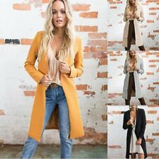 Women Solid Mock Neck Long Sleeve Long Slim Fit Cardigan Basic Jacket Coat