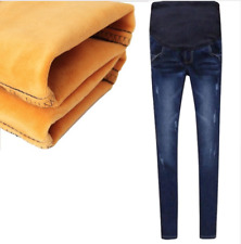 Maternity Jeans For Pregnant Women Pregnancy Winter Warm Jeans Pants