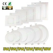 Dimmable LED Recessed Ceiling Panel Light Lamp Flat Fixtures Home Study / Office