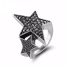 Viennois Silver Ring for Woman Star Rings Coffee Gold Colour Ring Jewellery W...