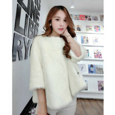 New Winter Women's Cute Rabbit Faux Fur Warm Jacket Outwear Thick Windproof Coat