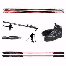 190cm METAL EDGE - UPGRADE BACK COUNTRY CROSS COUNTRY SKIS PACKAGE - UNBOX & SKI