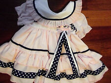DREAM GIRLS ROMANY SPANISH PINK & NAVY FRILLY LINED DRESS ALL SIZES AVAILABLE