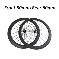 Toray Rim Surface 3K Matte or Glossy 50mm+60mm Clincher Carbon Wheels Wheelset