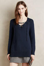 ANTHROPOLOGIE Moth Asbury Lace Up Pullover Sweater NwT M L