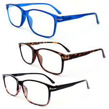 Retro Square Readers Flexible Frame Frosted Matte Finish Reading Glasses