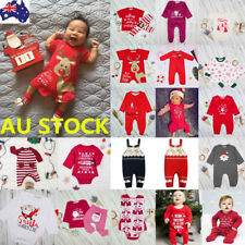 21 Style Baby Boys Girls Christmas Santa Jumpsuit Bodysuit Romper Outfit Clothes