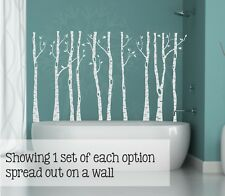 Birch Trees Branches and Birds Vinyl Wall Art Decals Modern Home Decor Stickers
