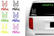 Metal Hand Symbol vinyl decal sticker - rock music iphone android car love cool