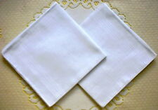 12 Pieces / 6 Pieces 37cm x 37cm 100% Cotton White  Color Handkerchiefs