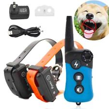 Rechargeable Waterproof Bark Collar Electric Shock Vibrate Training Pet No Barks