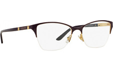 New VERSACE Authentic Eyeglasses VE1218 Women Round Metal 53mm Made In Italy