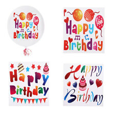 MagiDeal Happy Birthday Vinyl Labels Stickers Bobo Clear Jumbo Balloons