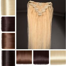 Deluxe Any Lengths Clip In Remy Human Hair Extensions Full Head Pretty Lady