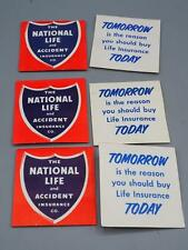 Vintage Lot of National Life Insurance Needle Book Needles Advertising Card