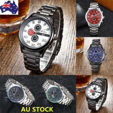 Fashion Luxury Men's Date Stainless Steel Analog Quartz Military Wrist Watch