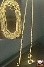 Real 10k Yellow gold 1mm, Franco Solid box chain in various size,stunning design