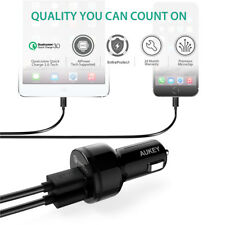 AUKEY Mini Dual USB Car Charger Quick Charge 3.0 For IPhone Samsung