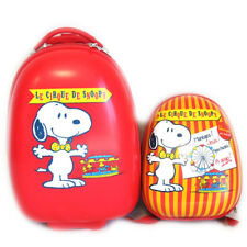 """Snoopy [M4499] - Valise ABS+ sac à dos """"Snoopy"""" rouge (41 cm)"""