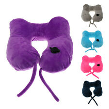 Inflatable Neck Head Rest U Shape Pillow Cushion Support for Flight Travel Car