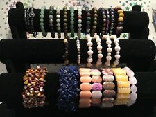 A Selection of 27 Stunning & Collectable Elasticated Genuine Gemstone Bracelets