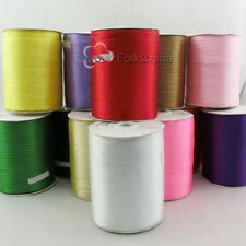 3mm 900Yds Double Faced Sided Satin Ribbons Reels Ribbon Wedding Craft Sewing