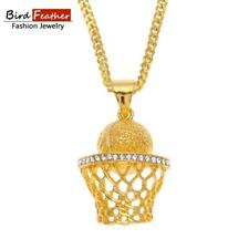 BasketBall-Nets Pendant Chain Necklaces & Pendants Hip Hop Fashion Jewelry
