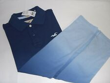NWT HOLLISTER by Abercrombie Men's Slim Fit Stretch Pique Ombre Polo Shirt XL