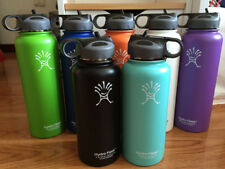 Hydro Flask Insulated Stainless Steel Water Bottle Wide Mouth With Straw Lid