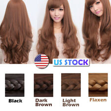 US Stock Womens Fashion Long Curly Full Wavy Wigs Hair Party Cosplay Costume
