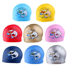 Perfeclan Waterproof Cartoon Dolphin Swim Cap Swimming Cap Children Swimming