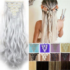 AU Real Thick 18Clips Clip in Full Head Hair Extensions Extension As Human fo