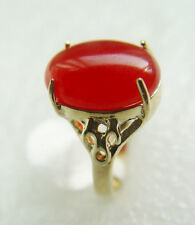 Fashion Women Ring 18K Gold Plated Nature Jade Jewelry Ladies Party  Gift