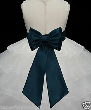 NEW TIE BOW SASH FOR WEDDING PAGEANT FLOWER GIRL DRESS SZ S M L 2 4 6 8 10 12 14