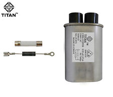 HV MICROWAVE OVEN CAPACITOR 0.95uf 2100 VAC 50/60HZ DIODE FUSE Replacement
