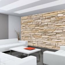 "Fleece Photo Wallpaper ""Asian Stone wall - beige - ENDLESS - stacking"" ! Tap"