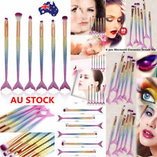 6/12PCS Mermaid Makeup Brush Set Eyeshadow Powder Foundation Lip Cosmetic Brush